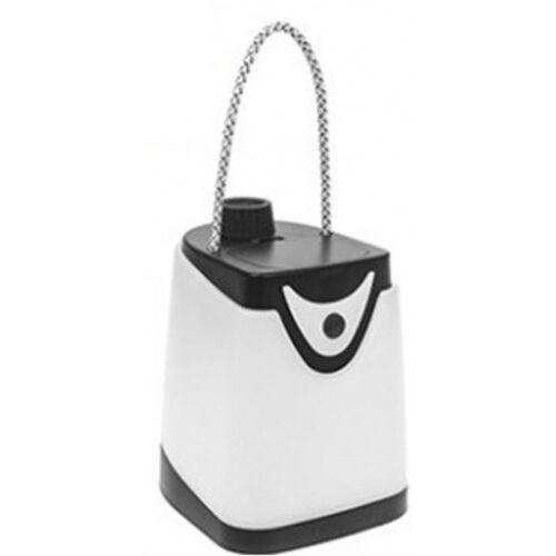 Summit campinglamp met zaklamp wit/zwart 15 cm - Wit,Zwart