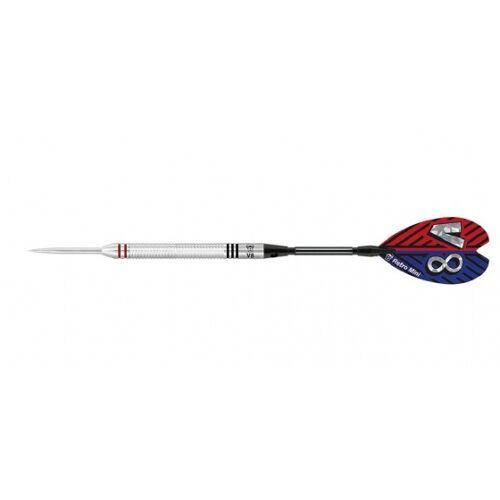Bull's dartpijlen V8 V1 steeltip 90% gewicht 22 gram - Grijs