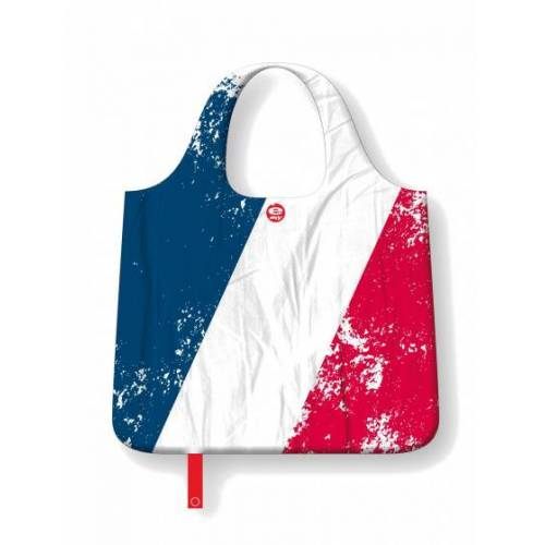 E-my E my opvouwbare boodschappentas 70 x 50 cm polyester blauw/wit/rood - Multicolor