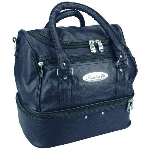 Henselite tas voor bowlsballen en benodigdheden 33x24x30 cm kunstleer navy - Navy