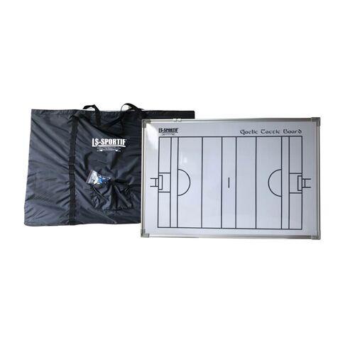 LS Sportif coachbord GAA zaalvoetbal 60 x 90 cm zwart/wit - Wit,Zwart