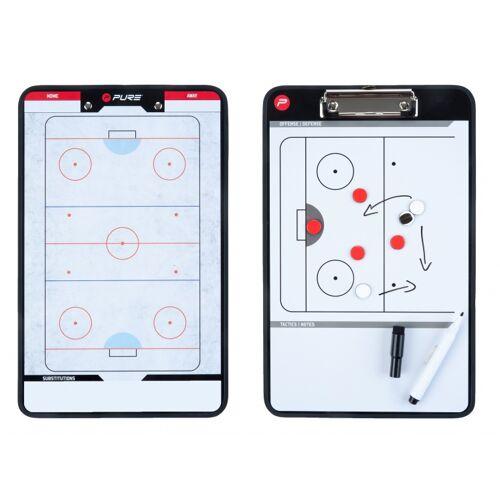 Pure2Improve coachboard ijshockey 35 x 22 cm - Zwart,Wit