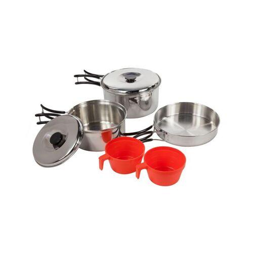 Regatta kookset roestvrij staal zilver/rood 6 delig - Rood,Zilver