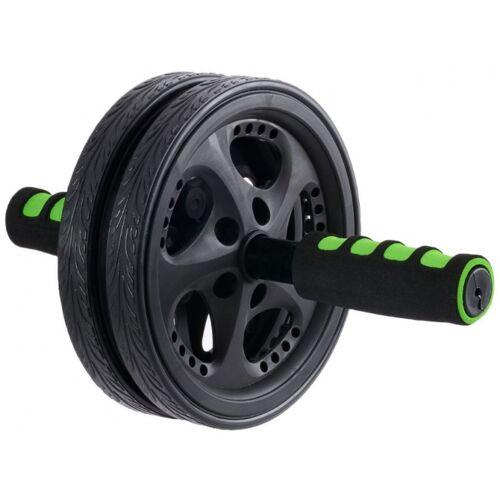 Schildkröt Fitness buikspierwiel 18,5 cm zwart - Zwart