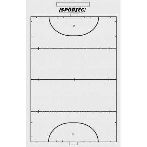 Sportec Coachbord Hockey Light Met Clip 40 X 24 cm - Wit