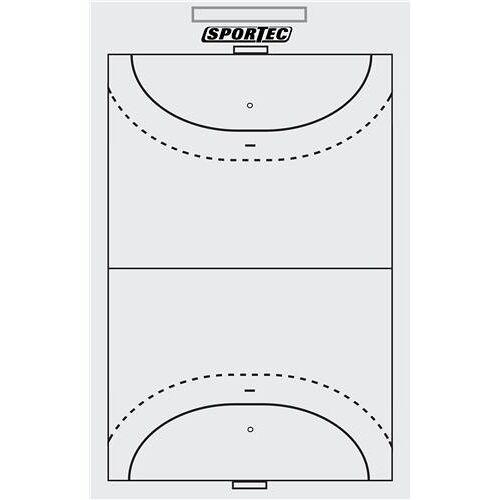 Sportec Coachbord Handbal Light Met Clip 40 X 24 cm - Wit,Zwart