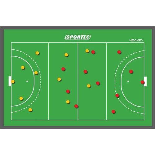 Sportec Coachbord Hockey Magnetisch 43 X 30 cm - Groen