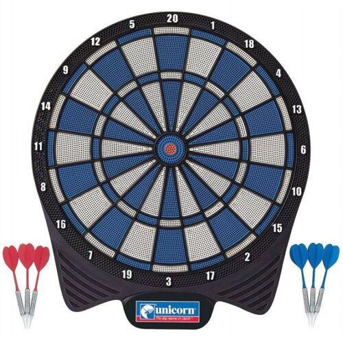 Unicorn softtip dartbord 40,5 cm rood/blauw - Rood,Blauw