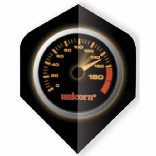 Unicorn flights Core plus 75 micron zwart snelheidsmeter - Zwart