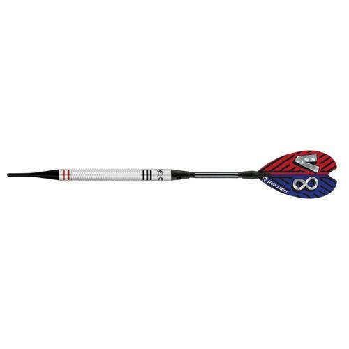 Bull's V8 V1 soft dartpijlen 18 gram 54 mm zilver/zwart S - Zilver,Zwart