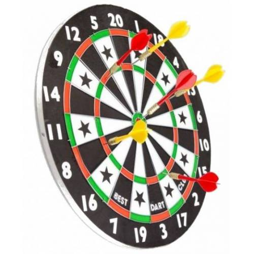 Lifetime Games dartbord met pijlen 38 cm 7 delig - Multicolor