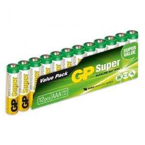 GP batterijen Super AAA alkaline per 12 stuks - Wit,Groen