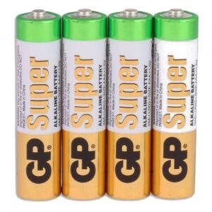 GP batterijen Super AAA alkaline per 4 stuks - Wit,Groen