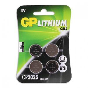 GP CR2025 Lithium knoopcelbatterijen 3V 4 stuks - Zilver