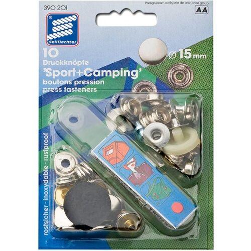 Seilflechter drukknopen voor stof 15 mm 10 stuks - Zilver