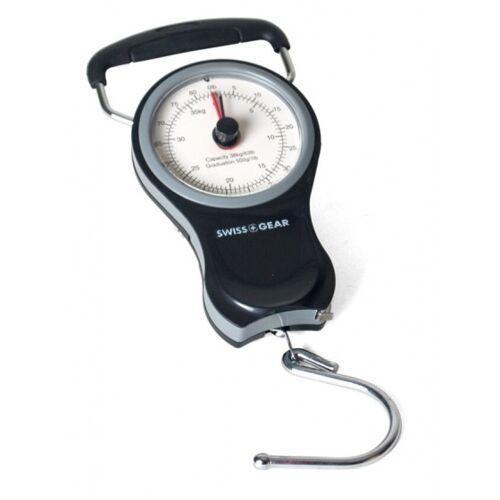 Gerimport bagageweegschaal tot 38 kg 14 cm staal zwart/grijs - Zwart,Grijs