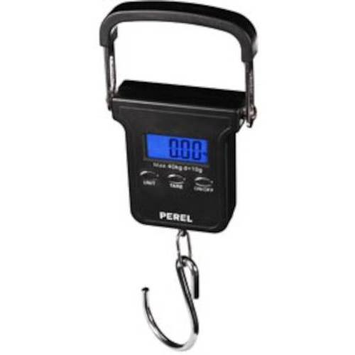 Perel bagageweegschaal digitaal 40 kg ABS/RVS zwart - Zwart