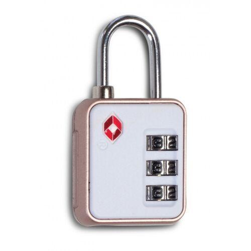 Worldpack bagageslot TSA Lock cijfercombinatie 6 cm wit - Wit,Roze