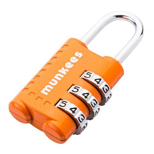 Munkees combinatieslot 5,2 cm staal oranje 1000 combinaties - Oranje