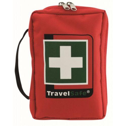 TravelSafe Ehbo set World Tour 12 cm polyester rood 73 delig - Rood
