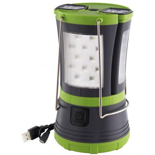 Eurotrail campinglamp 30cm antraciet 4 delig - Antraciet,Groen