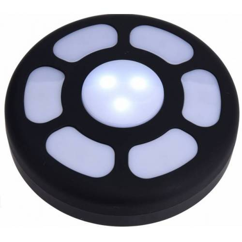 Redcliffs campinglamp rond led 18 cm - Zwart