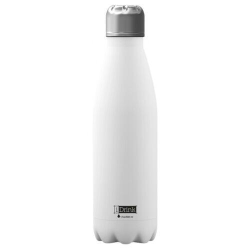 I-Drink I Drink drinkfles 650 ml RVS wit - Wit