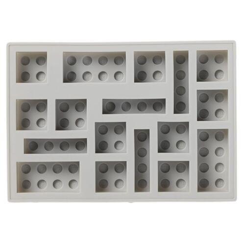 LEGO ijsblokjesvorm 17 x 12 cm siliconen grijs - Grijs