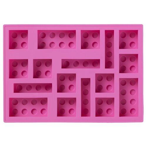 LEGO ijsblokjesvorm 17 x 12 cm siliconen roze - Roze