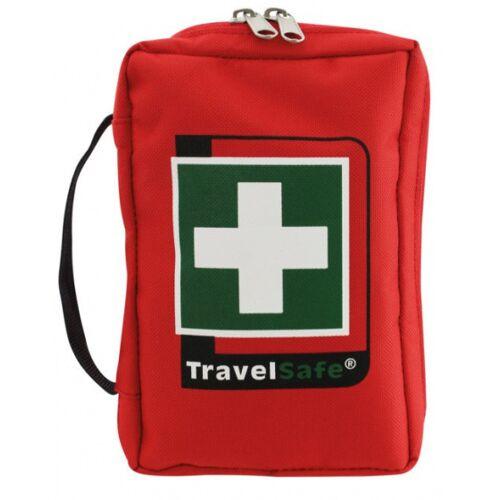 TravelSafe Ehbo set Tour 18 x 12 cm polyester rood 59 delig - Rood