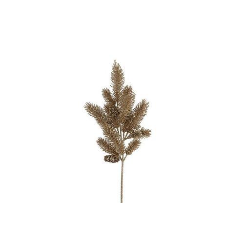 CF label versiering pijnboom 17 x 53 cm bruin