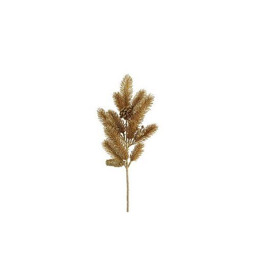 CF label versiering pijnboom 17 x 53 cm goud