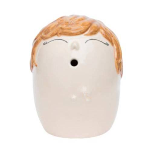 Love Vase vaas herinneringen blonde 16 cm aardewerk wit - Wit