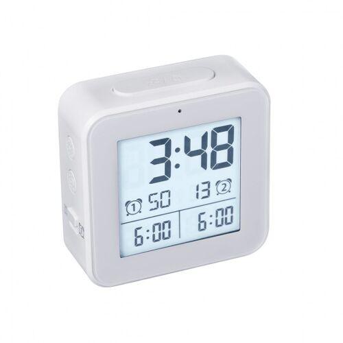 Balvi wekker digitaal 8,2 cm lcd scherm ABS wit - Wit