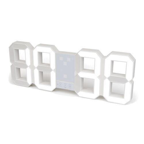 Balvi wekker Digital 6,4 x 45,1 cm wit ABS 2 delig - Wit