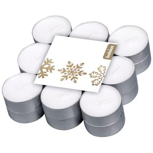 Bolsius geurkaarsen theelicht Vanilla wit 18 stuks - Wit