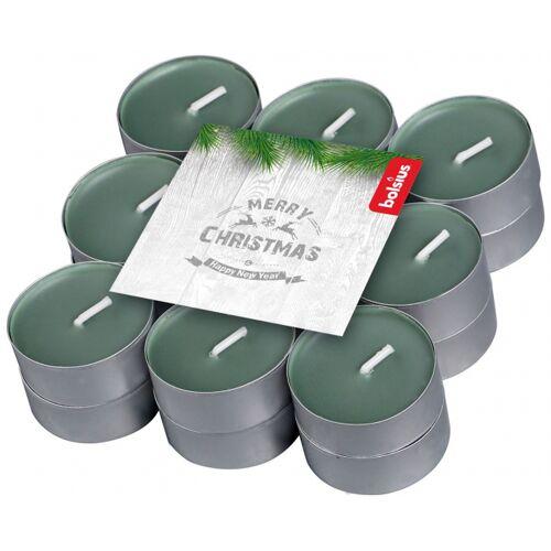 Bolsius geurkaarsen theelicht Winter Wood groen 18 stuks - Groen