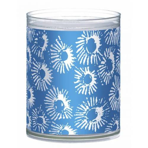 Bolsius geurkaarsen Coral wax blauw 2 stuks - Blauw