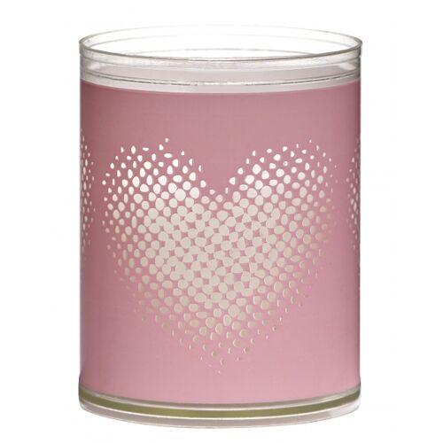Bolsius geurkaarsen Heart wax roze 2 stuks - Roze