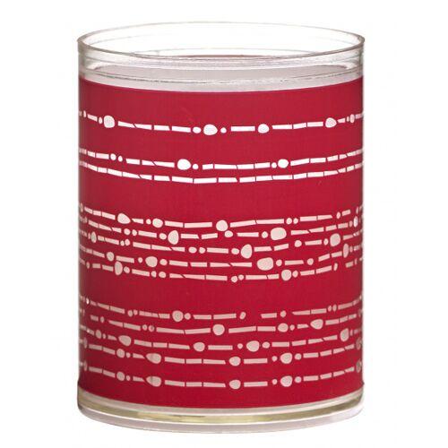 Bolsius geurkaarsen Ribbon wax rood 2 stuks - Rood