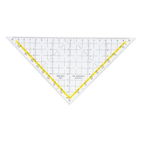 Aristo geodriehoek 22,5 cm transparant/geel