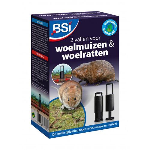 BSi Woelmuisval 12 x 6 x 19 cm zwart 4 delig
