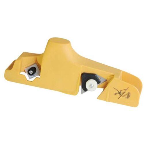 Toolland afkantschaaf voor gipsplaten 20 x 7 cm ABS geel