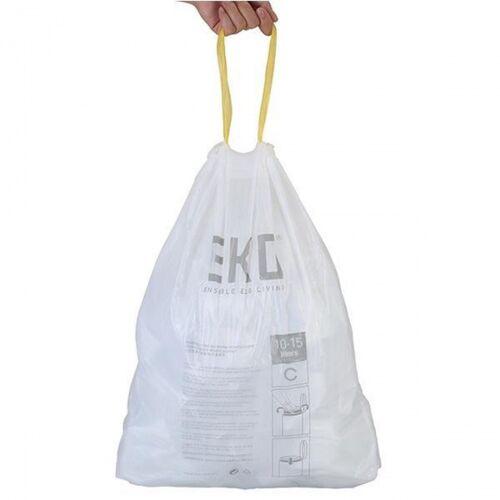 EKO afvalzakken 40 60 liter wit code F 24 rollen 288 afvalzakken - Wit