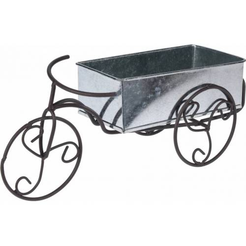 Pro Garden bloembak fiets zwart 25x15 cm