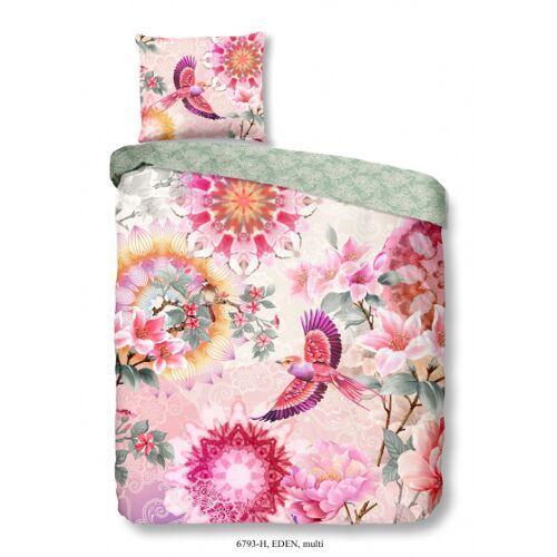 Hip beddengoed Eden 140 x 220 cm katoen roze
