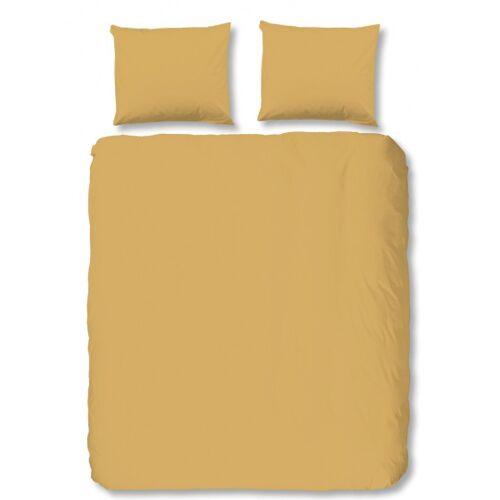 Hip beddengoed uni 240 x 220 cm katoen satijn geel - Geel