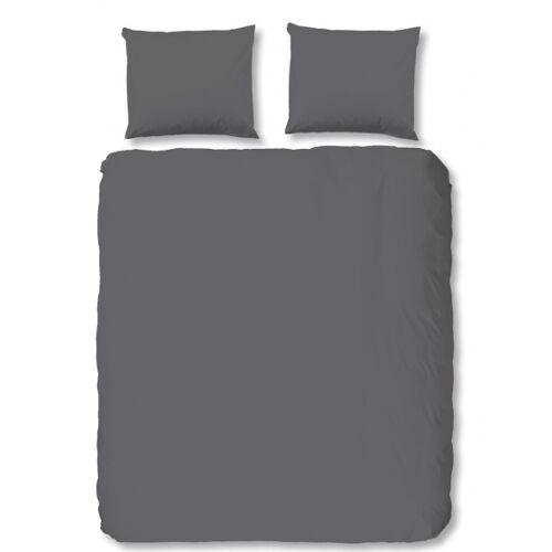 Hip beddengoed uni 240 x 220 cm katoen satijn grijs - Grijs