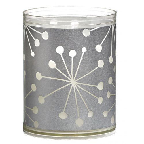 Bolsius geurkaarsen Crystal wax zilver 2 stuks - Zilver