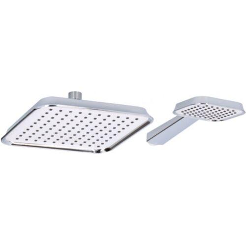 Bath & Shower douchekoppenset XL ABS chroom/wit 2 delig - Chroom,Wit